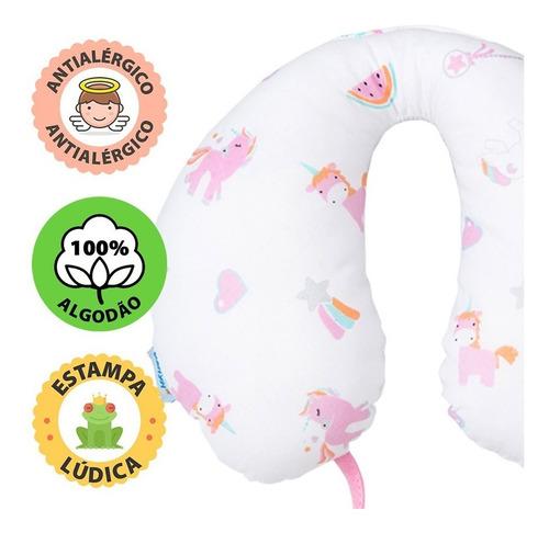 apoio pescoço travesseiro bebê com prendedor chupeta