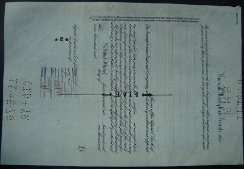 apolice 533654 the pennsylvania railroad company - ano 1952