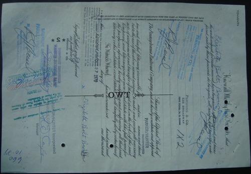 apolice 74533 the pennsylvania railroad company - ano 1956