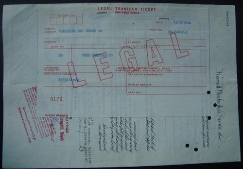 apolice 783161 the pennsylvania railroad company - ano 1956