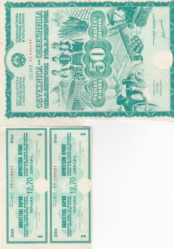 apólice bosnia hercegovina - 1968 - obveznica.
