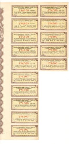 apólice china united states dollar bonds 1938 10 dólares