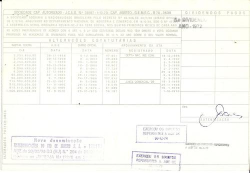 apólice companhia telefônica brasileira 1972