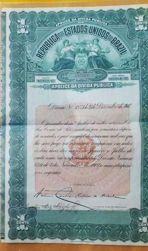 apólice da dívida pública dos estados unidos do brasil