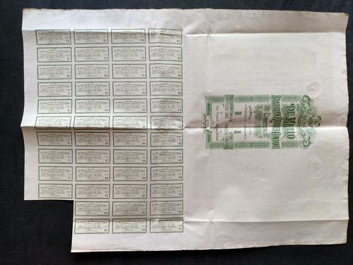 apólice de mello brazilian rubber company ano 1907