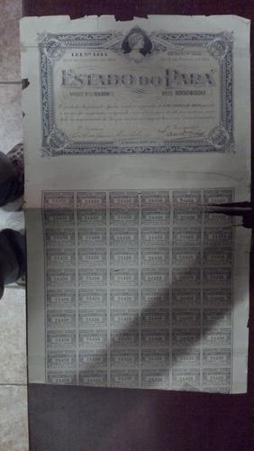 apólice do estado do pará - 1915 - um conto de réis