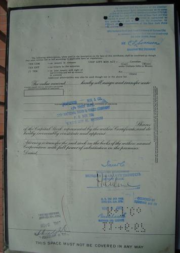 apolice - pan american sulphur company  - ano 1967 nc191380