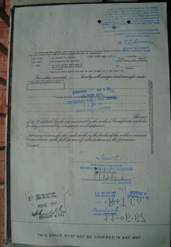 apolice - pan american sulphur company  - ano 1967 nc191382