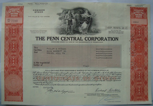 apolice, the penn central corporation pennsylvania 1978 7580