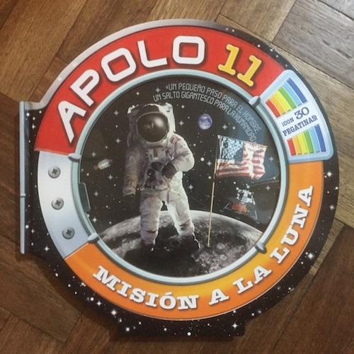 apolo 11 misión a la luna - infantil con pegatinas