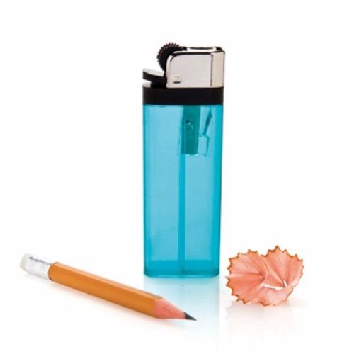 apontador de lápis isqueiro plástico