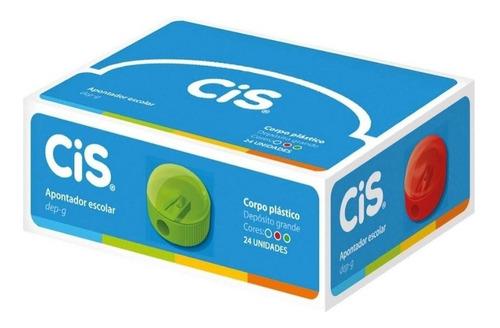 apontador escolar dep-g cis caixa com 24 unidades