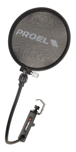 apop50 pop filter con cuello de ganso flexible proel