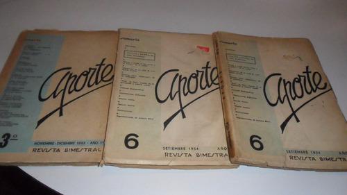aporte revista bimestral nro. 6 - setiembre 1954