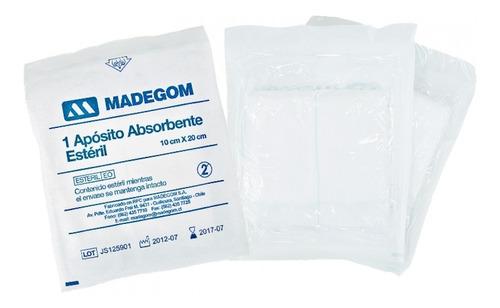 apósito absorbentes estériles 10cmx20cm 2 cajas 50 unid c/u