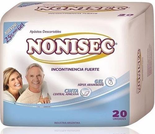 aposito pañal nonisec incontinencia fuerte 6 packs x 20 u