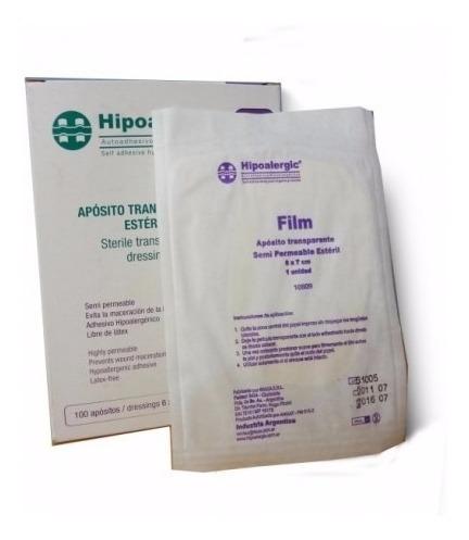 aposito transparente tipo tegaderm film hipoalergic 6x7 x100