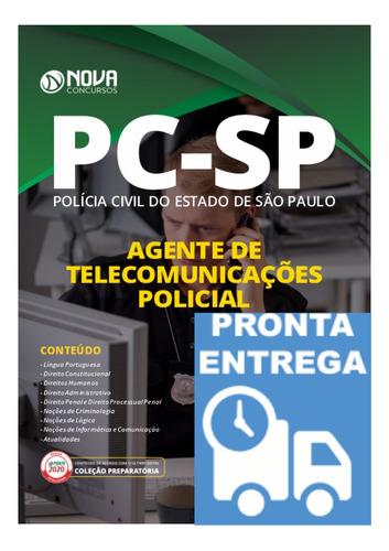 apostila agente de telecomunicações policial pc-sp livro