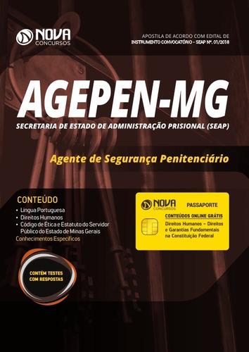 apostila agepen-mg 2018 - agente de segurança penitenciário