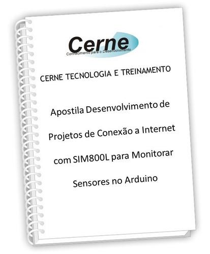 apostila arduino conexão internet sim800l monitorar sensores