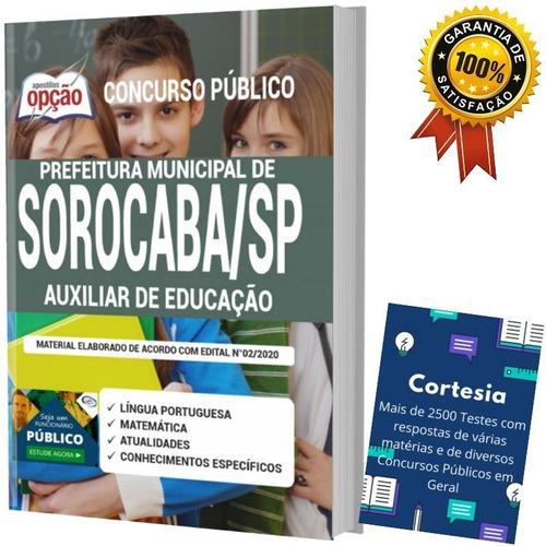 apostila  auxiliar de educação prefeitura sorocaba sp
