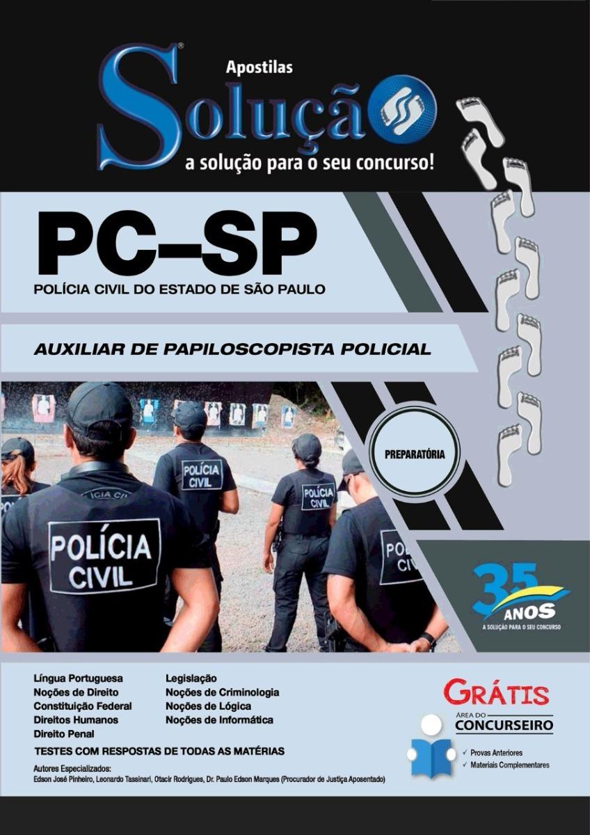 Apostila Auxiliar De Papiloscopista Pc Sp Solucao R 61 75 Em