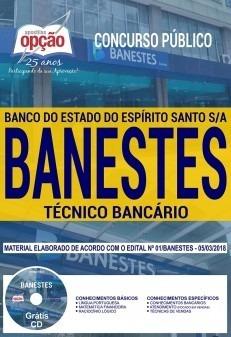 apostila banestes tecnico bancario 2018