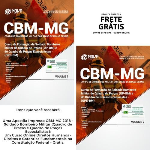 apostila cbm-mg 2018 - soldado bombeiro militar (praças)