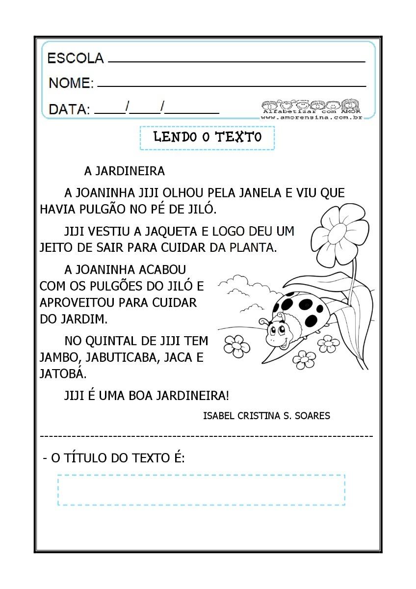 Apostila Com Textos, Cantigas E Atividades De ...