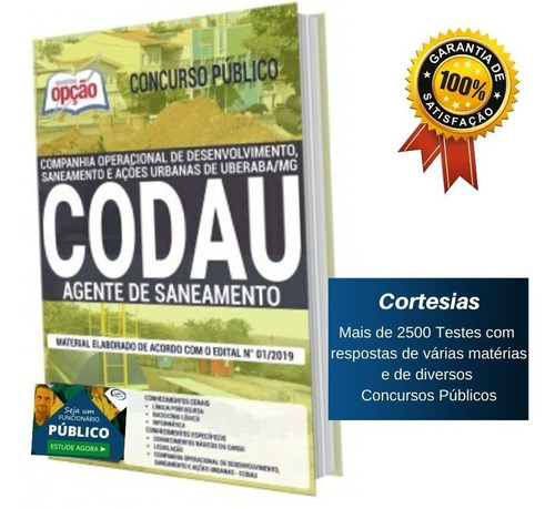apostila concurso codau - agente de saneamento