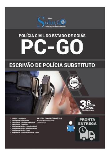 apostila concurso escrivão de polícia civil pc-go  livro