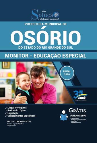 apostila concurso osório 2020 monitor educação especial