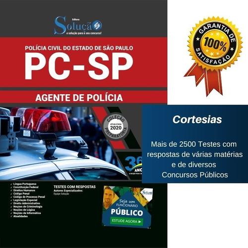 apostila concurso pc sp agente policial - polícia civil sp