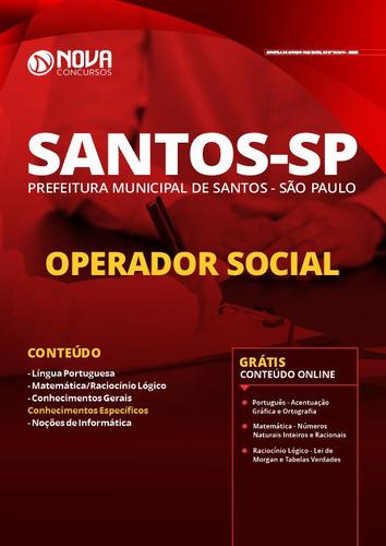 apostila concurso santos sp 2020 operador social