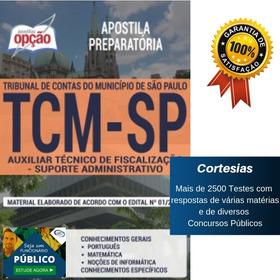 Apostila Concurso Tcm Sp - Auxiliar Técnico De Fiscalização