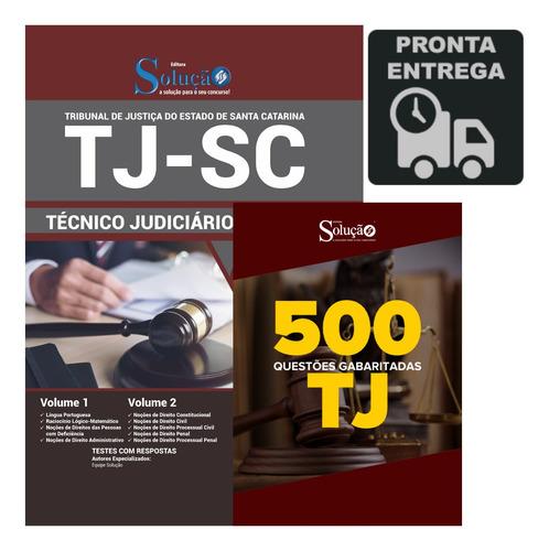 apostila concurso tj-sc técnico + 500 questões  livro