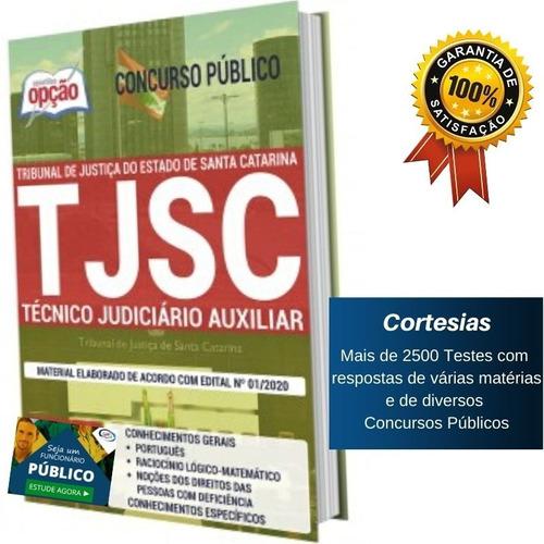 apostila concurso tj sc - técnico judiciário auxiliar