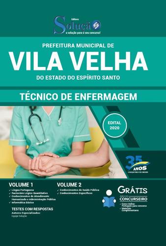 apostila concurso vila velha es 2020 técnico de enfermagem