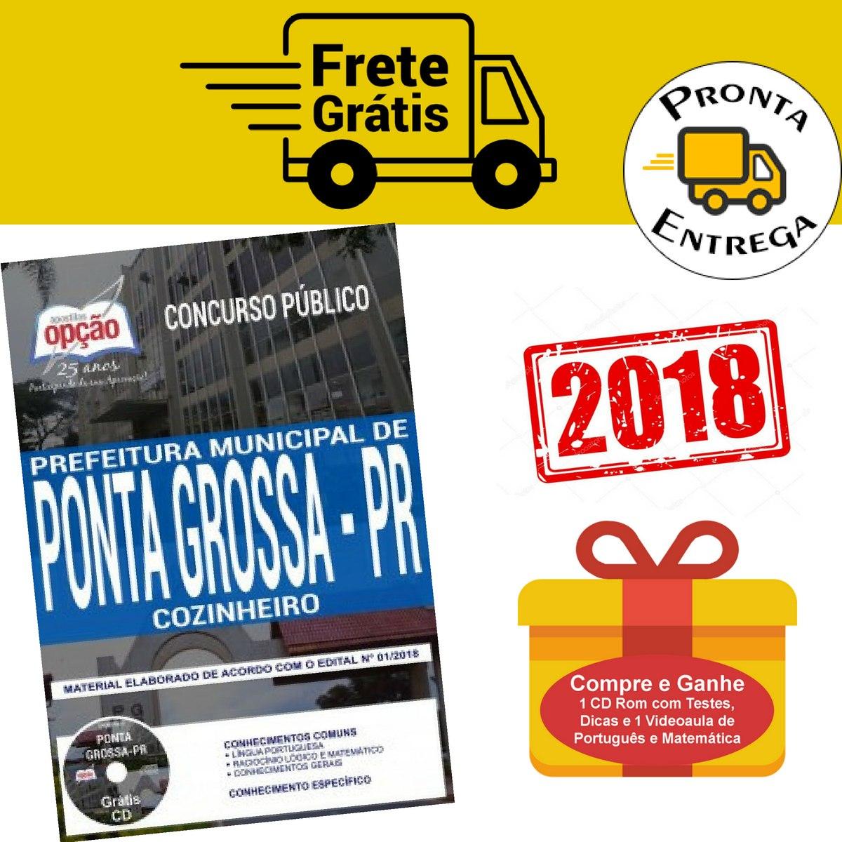 Apostila Cozinheiro Prefeitura Ponta Grossa Pr 2018 - R  63,39 em ... ac08c13de4