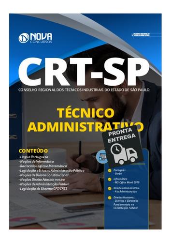 apostila crt-sp 2020 - técnico administrativo  livro