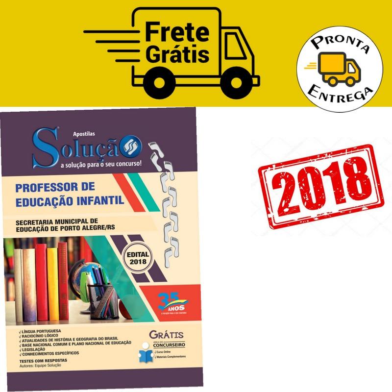 Apostila Educação Infantil Porto Alegre 2018 Professor R 9265