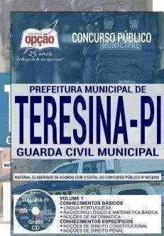 apostila guarda civil prefeitura de teresina - frete grátis