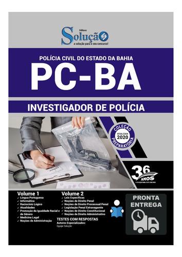 apostila investigador de polícia civil bahia  pc-ba  livro