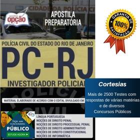 Apostila Investigador De Polícia Civil Rio De Janeiro Pc Rj