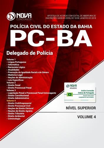 apostila pc ba 2018 - delegado de polícia civil da bahia