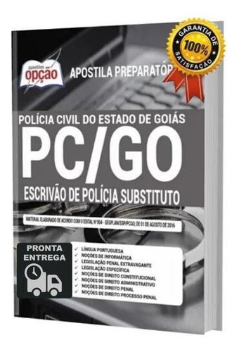 apostila pc-go  escrivão polícia civil substituto livro