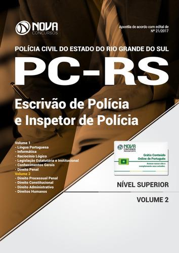 apostila pc - rs 2018 - escrivão e inspetor de policia