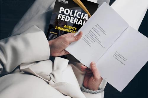 apostila pf agente administrativo + questões polícia federal