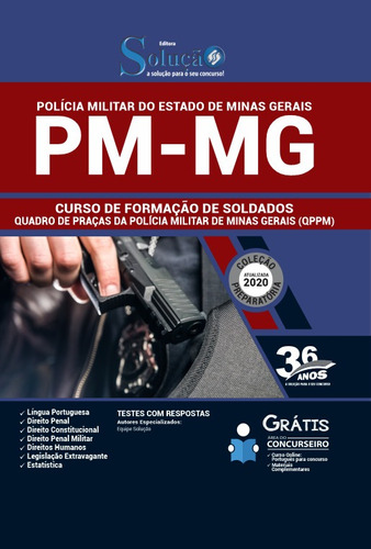 apostila pm-mg 2020 curso formação soldados qppm