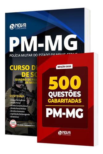 apostila pm-mg  formação de soldados + 500 testes  livro